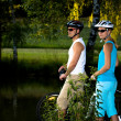 Biking couple — Stock Photo #6110298