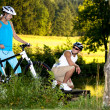 Biking couple — Stock Photo #6110300