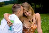 Giovane coppia in amore — Foto Stock