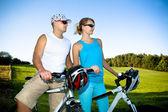 Велосипедные пара — Стоковое фото