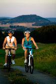 Ciclismo par — Foto de Stock