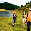 Stock Photo: Hiking at lake