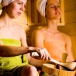 Stock Photo: Sauna girls