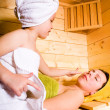 Sauna girls — Stock Photo