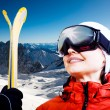Alpine skiing — Stock Photo