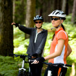 Stock Photo: Biking couple