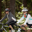 Stock Photo: Biking women
