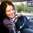 Driving girl — Stock Photo #6218431