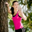 Jogging woman — Stock Photo