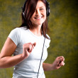 Listen to music — Stock Photo #6218528