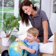 Learning about Earth - Foto Stock