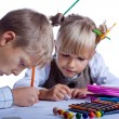 Drawing children — Stock Photo