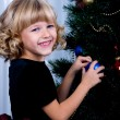 Decorating of Christmas tree — Stock fotografie