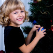 Decorating of Christmas tree — Stock Photo