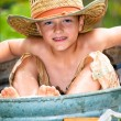 Boy in a bathtub — Stock Photo