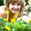 Stock Photo: Garden girl