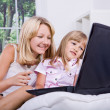 Girls with laptop — Stock Photo #6218950