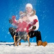 Sledding — Stock Photo