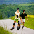 Rollerblades for two — Stock Photo #6219320