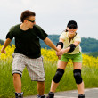 Rollerblades for two — Stock Photo #6219325