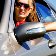 Stock Photo: Young woman in the car