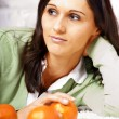 Young women with salad — Stock Photo #6219336