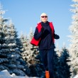 Stock Photo: Winter jogging