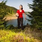 Hiking woman — Stock Photo