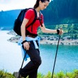 Hiking woman — Stock Photo
