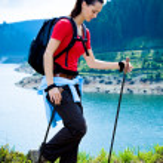 Hiking woman — Stock Photo #6219353