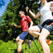Stock Photo: Power nordic walking