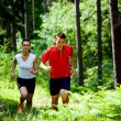 Jogging in forest — Stock Photo #6219385