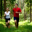 Jogging in forest — Stock Photo #6219387