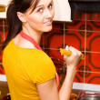 Kitchen activities — Stockfoto