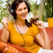 Listen to music — Stock Photo #6219421