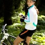 Cycling woman — Stock Photo #6219450