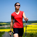 Nordic walking — Stock Photo #6219546
