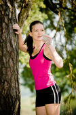 Jogging donna — Foto Stock