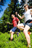 Power nordic walking — Stock Photo