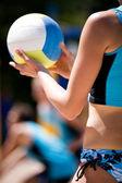 Beach volleyball — Fotografia Stock