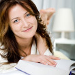 Reading young woman — Stock Photo #6228341