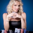 Poker girl — Stock Photo #6230147