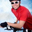 Stock Photo: Cycling man