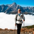 Hiking in Dolomite - Stock Photo