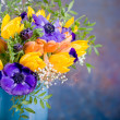Bunch of anemones and tulips — Stock Photo #6253612