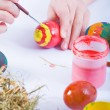Stock Photo: Painting Easter Eggs