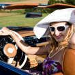 Woman and classic car — Stock Photo #6255440
