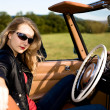 Woman and classic car — Stock Photo #6255445