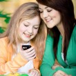 Two girls with a cellphone — Stock Photo #6255512