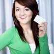 Girl with bank card — Stock Photo #6255559